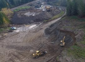 Excavation project for materials in Port Angeles, WA.